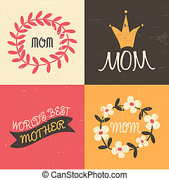 Mothers Day Greeting Cards Collect - A set of four vintage...