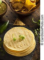 Pila, casero, maíz, Tortillas