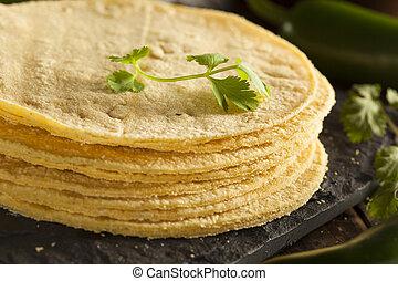 maíz,  Tortillas, Pila, casero