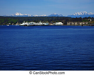 Bainbridge Island Bay - View of by or harbor in pacific...
