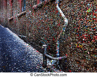 Seattles Famous Gum Wall - Seattle Washington famous gum...