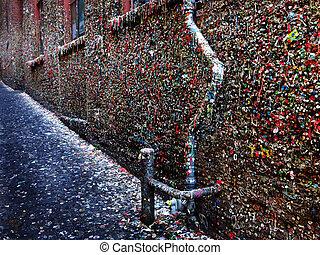 Seattle's Famous Gum Wall - Seattle Washington famous gum...