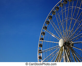 Seattle Water Front Ferris Wheel - Detail of Seattle water...