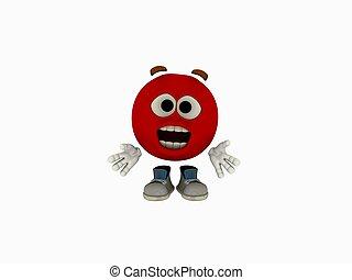 emoticon cartoon - 3d render of emoticon cartoon guy