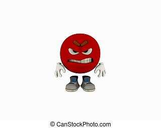 emoticon cartoon - 3d render of emoticon cartoon guy