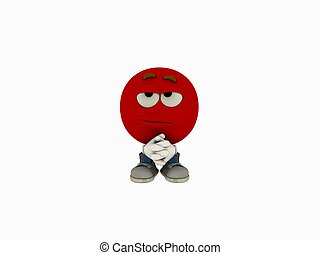 emoticon cartoon - 3d render of emoticon