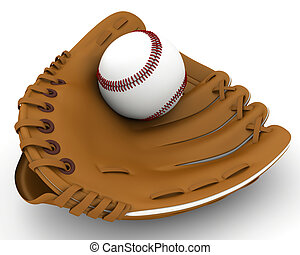 new baseball glove on a white background