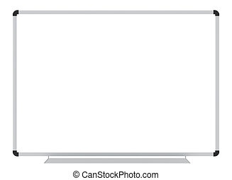 Whiteboard blank white board isolated on white school...