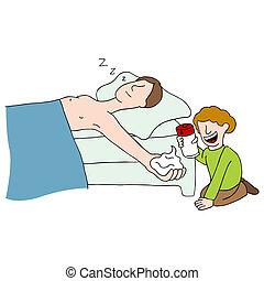 Shaving Cream Practical Joke - An image of shaving cream...