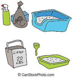 Cat Litter Objects - An image of cat litter objects.