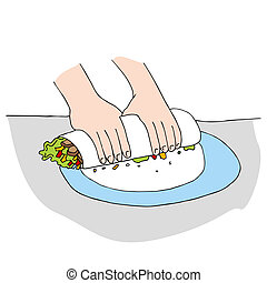 Chicken Salad Wrap - An image of a chicken salad wrap being...