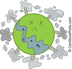 pollution of the planet