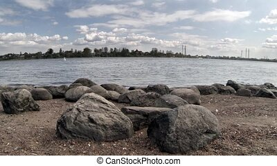 scenery with ancients  boulders at