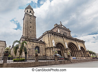 Manila Cathedral at day, Intramuros, Manila, Philippines