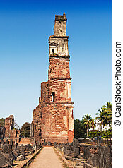 Augustine ruins in Old Goa, Goa state, India