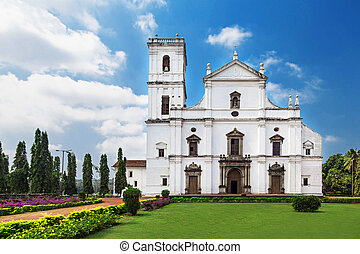Se cathedral in Old Goa, Goa state, India