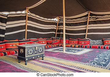 Tent Desert Camp Oman - Tent desert camp Wahiba with wooden...