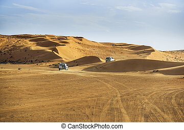 Off road cars in Wahiba - Image of off road cars in the...
