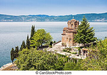 St. John Church - Saint John Monastery in old town, Ohrid,...