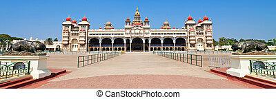 Mysore palace - Panorama of Mysore Palace, Karnataka state...