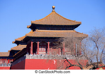 A Side Tower Along The Upright Gate Leading From Tiananmen...