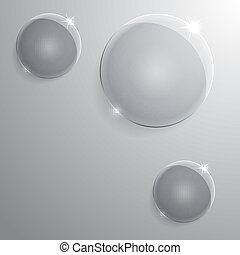 round glass frame. Vector illustration. Eps10