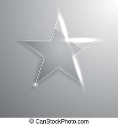 frame glass star Vector illustration Eps10 background