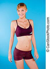 Toned Woman in Sportswear