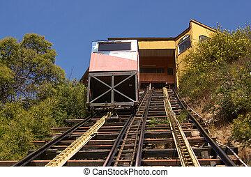 Valparaiso Funicular - Ascensor Concepcion. Historic...