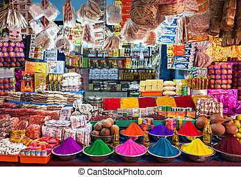 Indian shop - DELHI, INDIA - MARCH 26: Indian shop on March...