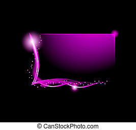 Blurred glowing light effect Business Card.