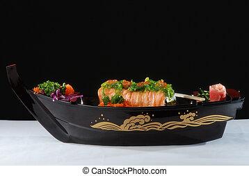 Sushi, barco