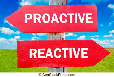 Proactive and reactive way choice showing strategy change or...