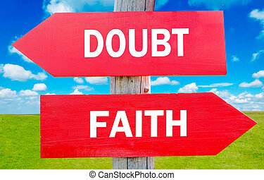 Doubt or Faith choice showing strategy change or dilemmas