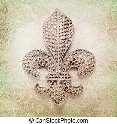 Vintage background with fleur de lys