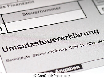 VAT return - german VAT return form