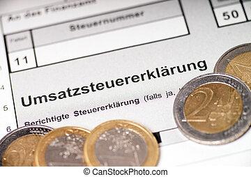 VAT return - german VAT return and Euro coins