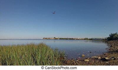 Algarve -Airplane Landing in Faro Airport - Air travel -...