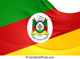 Flag of Rio Grande do Sul, Brazil.