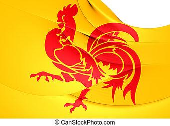 Flag of Wallonia. Close Up.