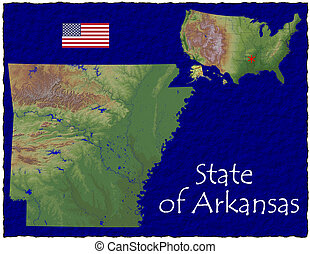 Arkansas, USA hi res aerial view - Hi res aerial view of...