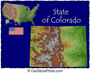 Colorado, USA hi res aerial view - Hi res aerial view of...