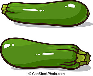 Zucchini - Vector illustration of zucchinis isolated on a...
