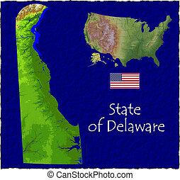 Delaware, USA hi res aerial - Hi res aerial view of...