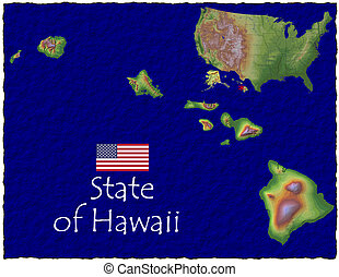 Hawaii, USA hi res aerial view - Hi res aerial view of...