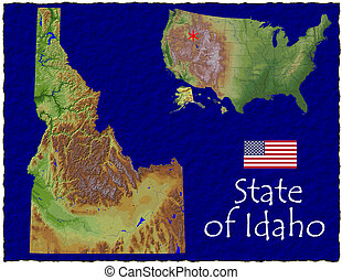 Idaho, USA hi res aerial view - Hi res aerial view of Idaho,...
