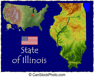 Illinois, USA hi res aerial - Hi res aerial view of...