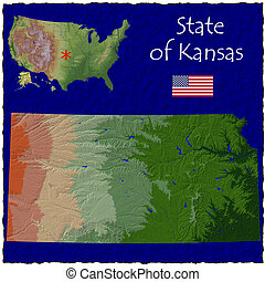 Kansas, USA hi res aerial - Hi res aerial view of Kansas,...