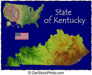 Kentucky, USA hi res aerial - Hi res aerial view of...