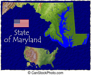 Maryland, USA hi res aerial - Hi res aerial view of...
